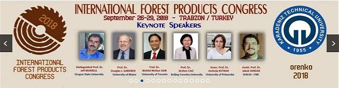 ORENKO 2018 – Uluslararası Orman Ürünleri Kongresi